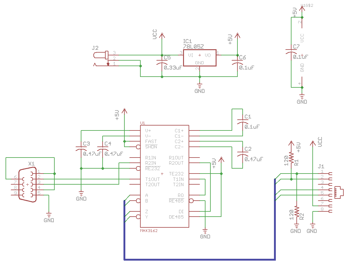 RS232-to-RS485 Schematic
